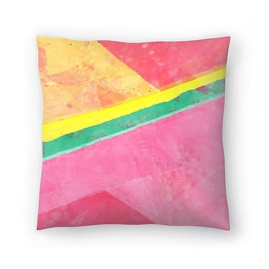 East Urban Home Tracie Andrews Twisted Melon Throw Pillow; 20'' x 20''