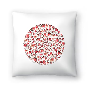 East Urban Home Elena O'Neill Robin Circle Throw Pillow; 20'' x 20''