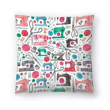 East Urban Home Elena O'Neill Sewing Pattern Throw Pillow; 20'' x 20''