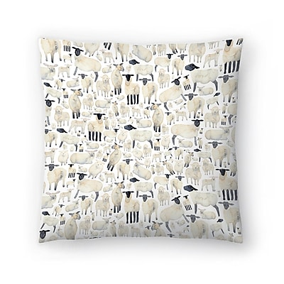 East Urban Home Elena O'Neill Sheep Throw Pillow; 14'' x 14''