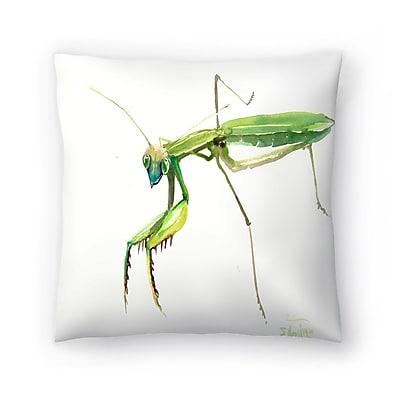 East Urban Home Suren Nersisyan Raying Mantis 2 Throw Pillow; 14'' x 14''