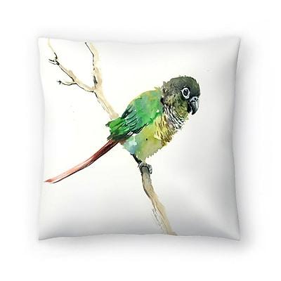 East Urban Home Suren Nersisyan Conure Parakeet Parrot Throw Pillow; 18'' x 18''