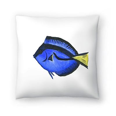 East Urban Home Suren Nersisyan Fish Angelfish Suren 1 Throw Pillow; 14'' x 14''