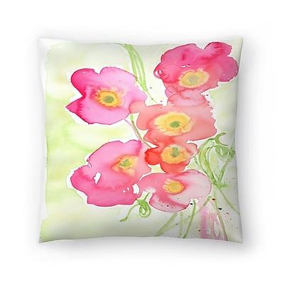 East Urban Home Paula Mills Poppies Throw Pillow; 18'' x 18''