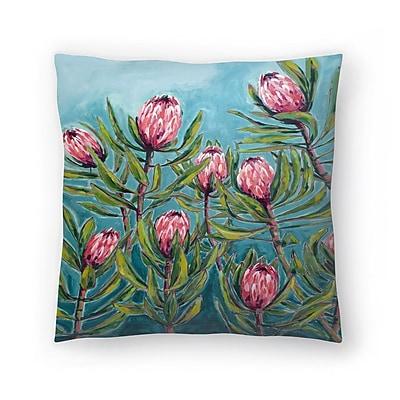 East Urban Home Paula Mills Protea Painting Throw Pillow; 14'' x 14''