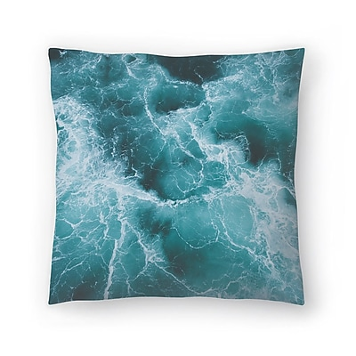 East Urban Home Luke Gram Electric Ocean Throw Pillow; 16'' x 16''