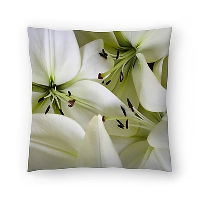 East Urban Home Maja Hrnjak Lilies Throw Pillow; 18'' x 18''