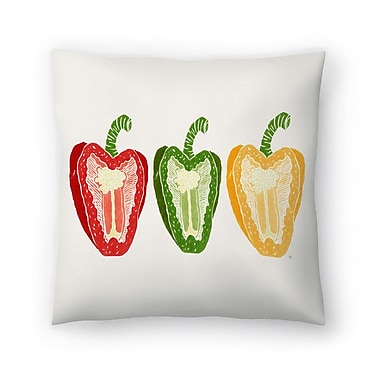 East Urban Home Tracie Andrews Mixed Peppers Throw Pillow; 18'' x 18''