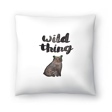East Urban Home Elena O'Neill Wild Thing Bear Throw Pillow; 14 ''x 14''