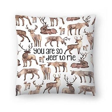 East Urban Home Elena O'Neill You are so Deer to Me Throw Pillow; 16'' x 16''