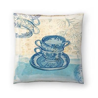 East Urban Home Paula Mills Willow Pattern Throw Pillow; 18'' x 18''