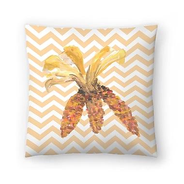 East Urban Home Jetty Printables Chevron Corn Autumn Print Throw Pillow; 16'' x 16''