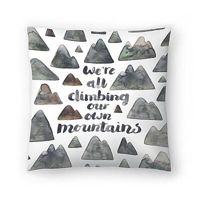 East Urban Home Elena O'Neill Climbing Our Own Mountains Throw Pillow; 18'' x 18''