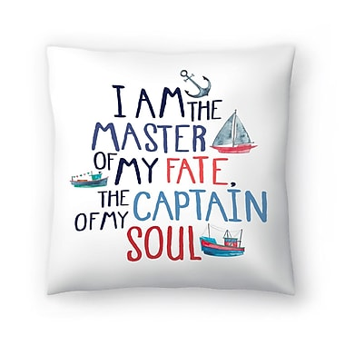 East Urban Home Elena O'Neill I Am the Master of My Fate Throw Pillow; 14'' x 14''