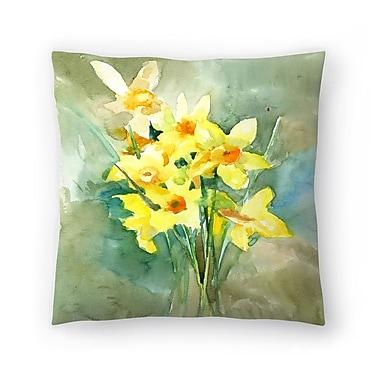 East Urban Home Suren Nersisyan Daffodil Throw Pillow; 18'' x 18''