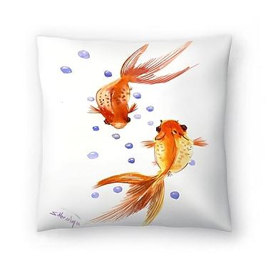 East Urban Home Suren Nersisyan Feng Shui fish Koi 1 Throw Pillow; 18'' x 18''