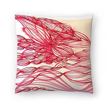 East Urban Home Paula Mills Swirl Throw Pillow; 14'' x 14''
