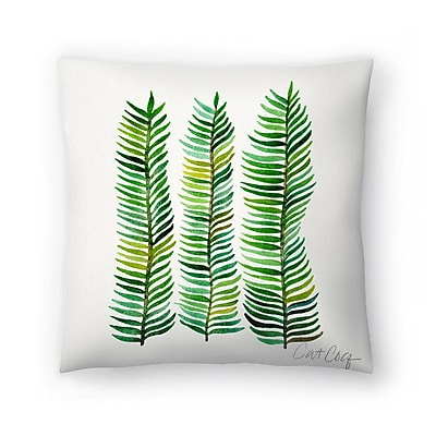 East Urban Home Cat Coquillette Seaweed Throw Pillow; 16'' x 16''