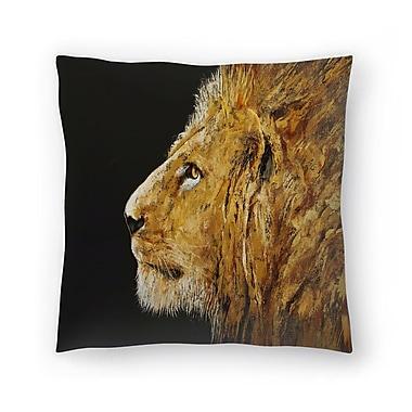 East Urban Home Michael Creese Lion Throw Pillow; 18'' x 18''