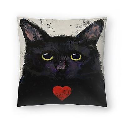 East Urban Home Michael Creese Love Cat Throw Pillow; 18'' x 18''