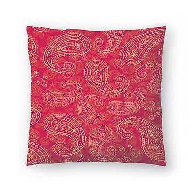 East Urban Home Tracie Andrews Crazy Paisley Throw Pillow; 14'' x 14''