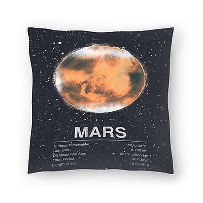 East Urban Home Tracie Andrews Mars Throw Pillow; 18'' x 18''
