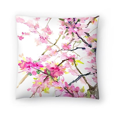 East Urban Home Suren Nersisyan Cherry Blossom Throw Pillow; 20'' x 20''
