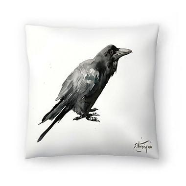 East Urban Home Suren Nersisyan Crow 3 Throw Pillow; 14 ''x 14''