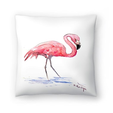 East Urban Home Suren Nersisyan Flamingo 3 Throw Pillow; 16'' x 16''