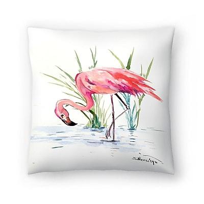 East Urban Home Suren Nersisyan Flamingo 4 Throw Pillow; 16'' x 16''