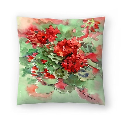 East Urban Home Suren Nersisyan Geranium 1 Throw Pillow; 14 ''x 14''