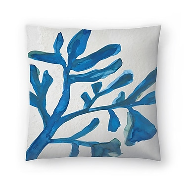 East Urban Home Jetty Printables Watercolor Seaweed Painitng 3 Throw Pillow; 20'' x 20''