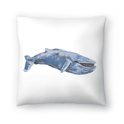East Urban Home Jetty Printables Whale 01 Throw Pillow; 14 ''x 14''