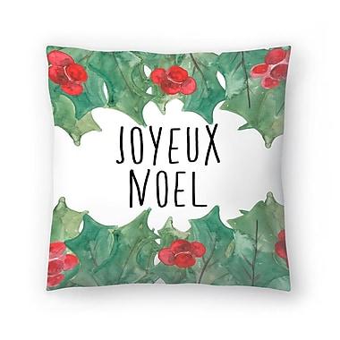 East Urban Home Jetty Printables Joyeux Noel Throw Pillow; 20'' x 20''