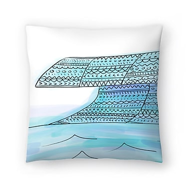 East Urban Home Jetty Printables Tribal Wave Boho Art Throw Pillow; 14 ''x 14''