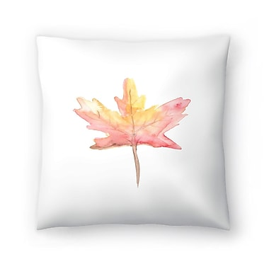East Urban Home Jetty Printables Watercolor Autumnal Fall Leaf Throw Pillow; 20'' x 20''