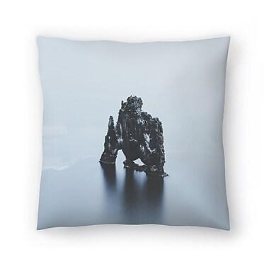 East Urban Home Luke Gram Hvitserkur Iceland Throw Pillow; 16'' x 16''