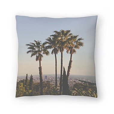East Urban Home Luke Gram La Ii Throw Pillow; 18'' x 18''