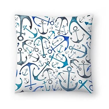 East Urban Home Elena O'Neill Anchors Throw Pillow; 14'' x 14''