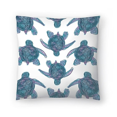 East Urban Home Jetty Printables Tribal Turtle Pattern Throw Pillow; 14'' x 14''