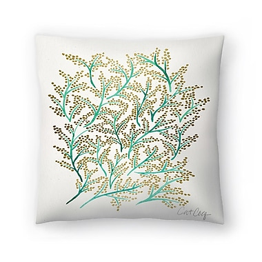 East Urban Home Cat Coquillette Branches Throw Pillow; 18'' x 18''