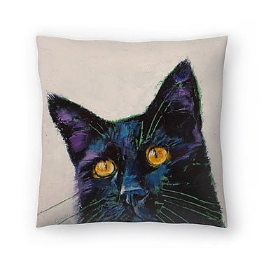 East Urban Home Michael Creese Killer Cat Throw Pillow; 16'' x 16''