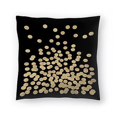 East Urban Home Charlotte Winter Glitter Dots Throw Pillow; 18'' x 18''