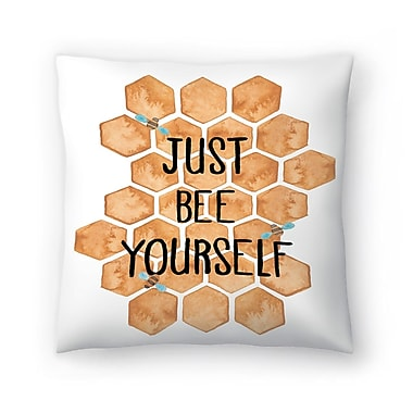 East Urban Home Elena O'Neill Just Bee Yourself Throw Pillow; 20'' x 20''