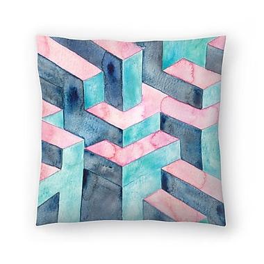 East Urban Home Elena O'Neill Watercolour Illusion Throw Pillow; 18'' x 18''