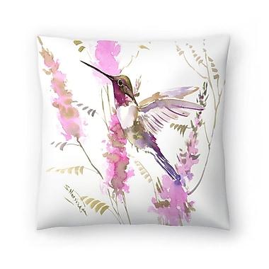 East Urban Home Suren Nersisyan Hummkingbird and Flowers Throw Pillow; 20'' x 20''
