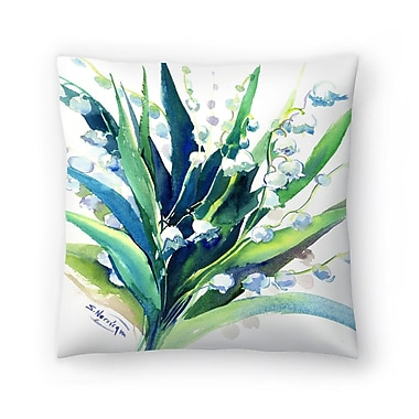East Urban Home Suren Nersisyan Lilies of the Valley Suren 2 Throw Pillow; 14'' x 14''