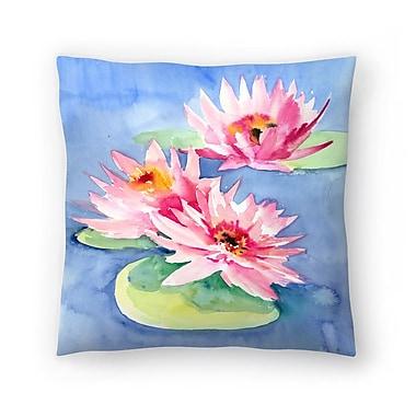 East Urban Home Suren Nersisyan Lotuses 1 Throw Pillow; 16'' x 16''