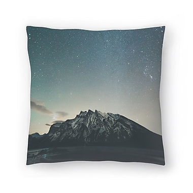 East Urban Home Luke Gram Lake Minnewanka Alberta Ii Throw Pillow; 16'' x 16''