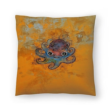 East Urban Home Michael Creese Baby Octopus Throw Pillow; 20'' x 20''